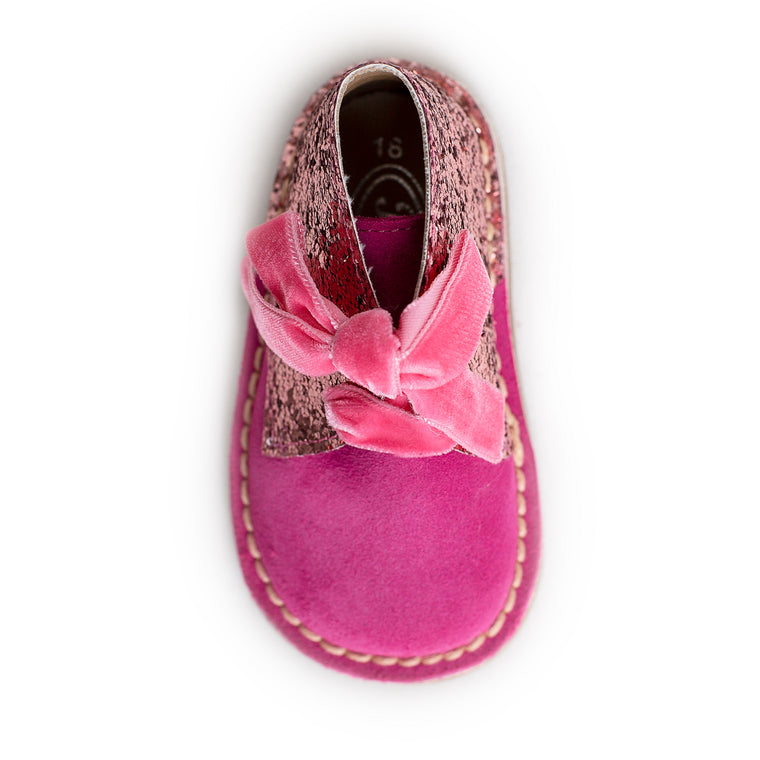 AW18 Rochy Hot Pink Glitter Boots - dainty delilah spanish childrens wear