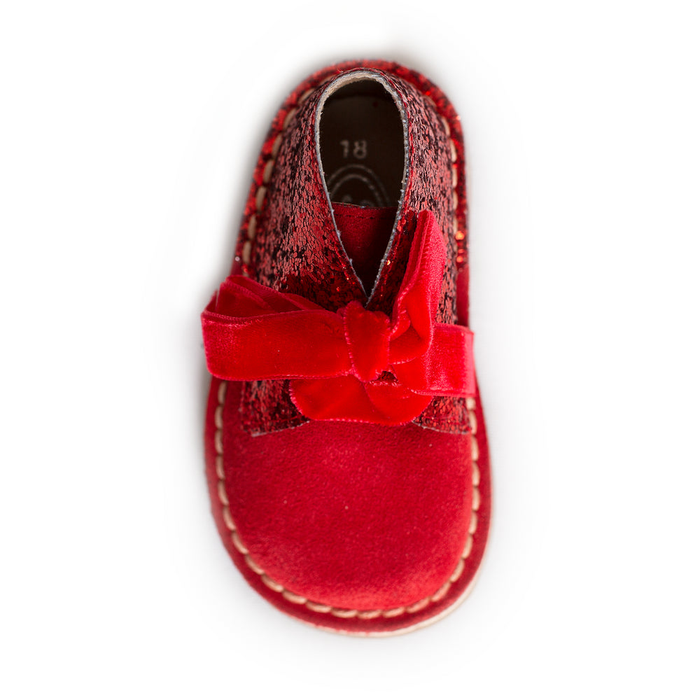 AW18 Rochy Red Glitter Boots - dainty delilah spanish childrens wear