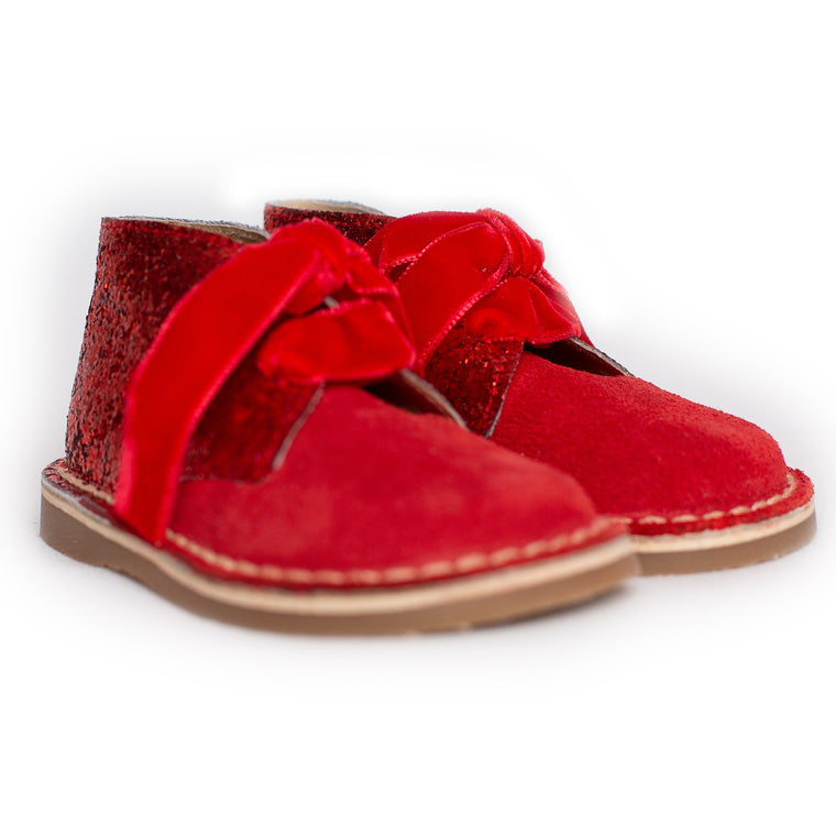AW18 Rochy Red Glitter Boots