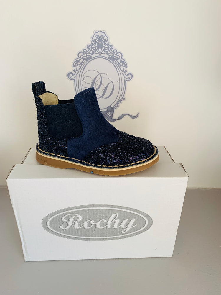 AW19 Rochy Navy Glitter Chelsea Boot
