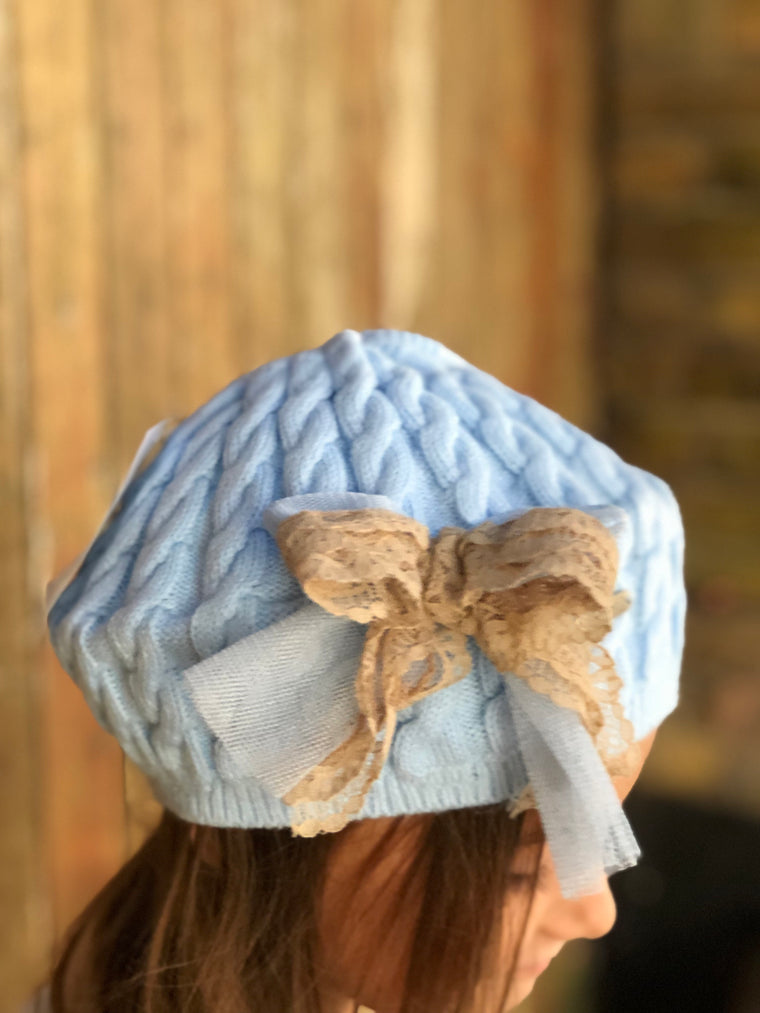 AW19 Rahigo Lace Bow Beret Hat Very Small Fit