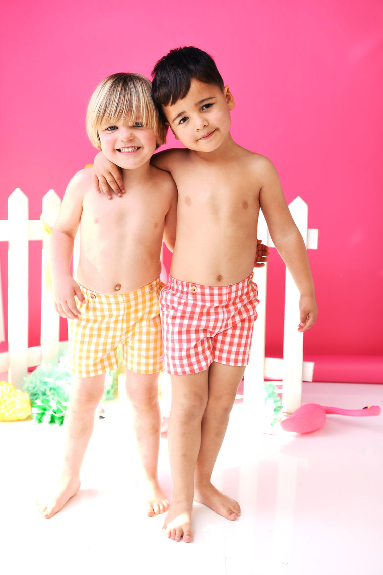 SS19 Cocote Boys Gingham Check Chino Shorts NON RETURNABLE
