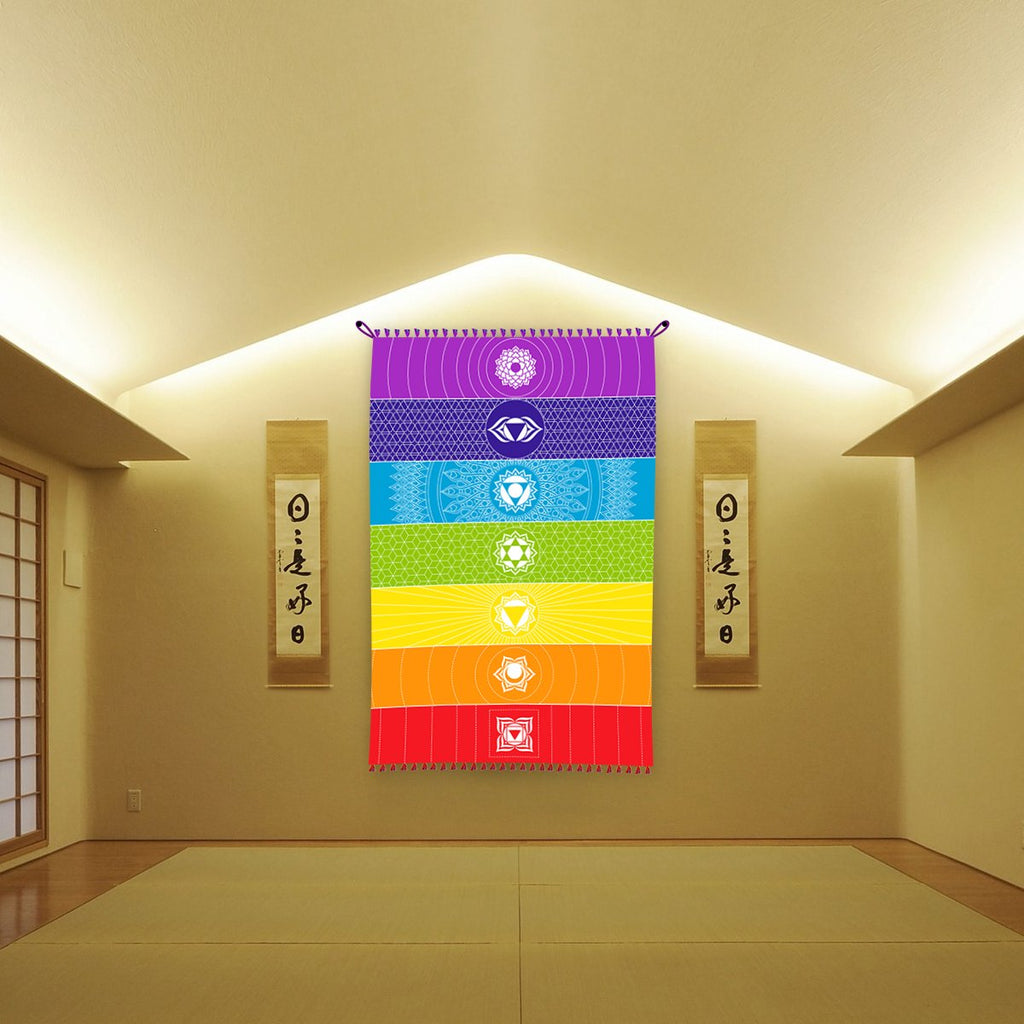 7 Chakra Meditation Tapestry – Spiritual Growth Co.