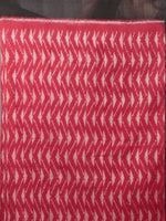 Red Black Grey Ikat Handwoven Pochampally Mercerized Cotton Saree - S031701628