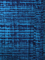 Indigo Blue Hand Block Printed Cotton Cambric Fabric Per Meter - F0916455