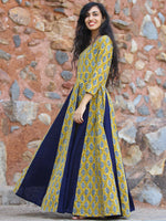 Flare Affair - Hand Block Printed Long Cotton  Dress