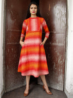 IKAT WAVE - Handwoven Ikat Cotton Dress - D330F1454