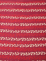 Red Beige Natural Dyed Hand Block Printed Cotton Fabric Per Meter - F0916213