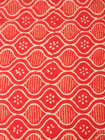 Orange Beige Natural Dyed Hand Block Printed Cotton Fabric Per Meter - F0916233