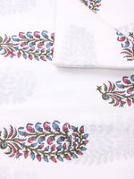 Multi Color Natural Dyed Hand Block Printed Cotton Fabric Per Meter - F0916261