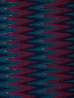 Indigo Lavender Teal Blue Pochampally Hand Weaved Ikat Mercerised  Fabric Per Meter - F002F838