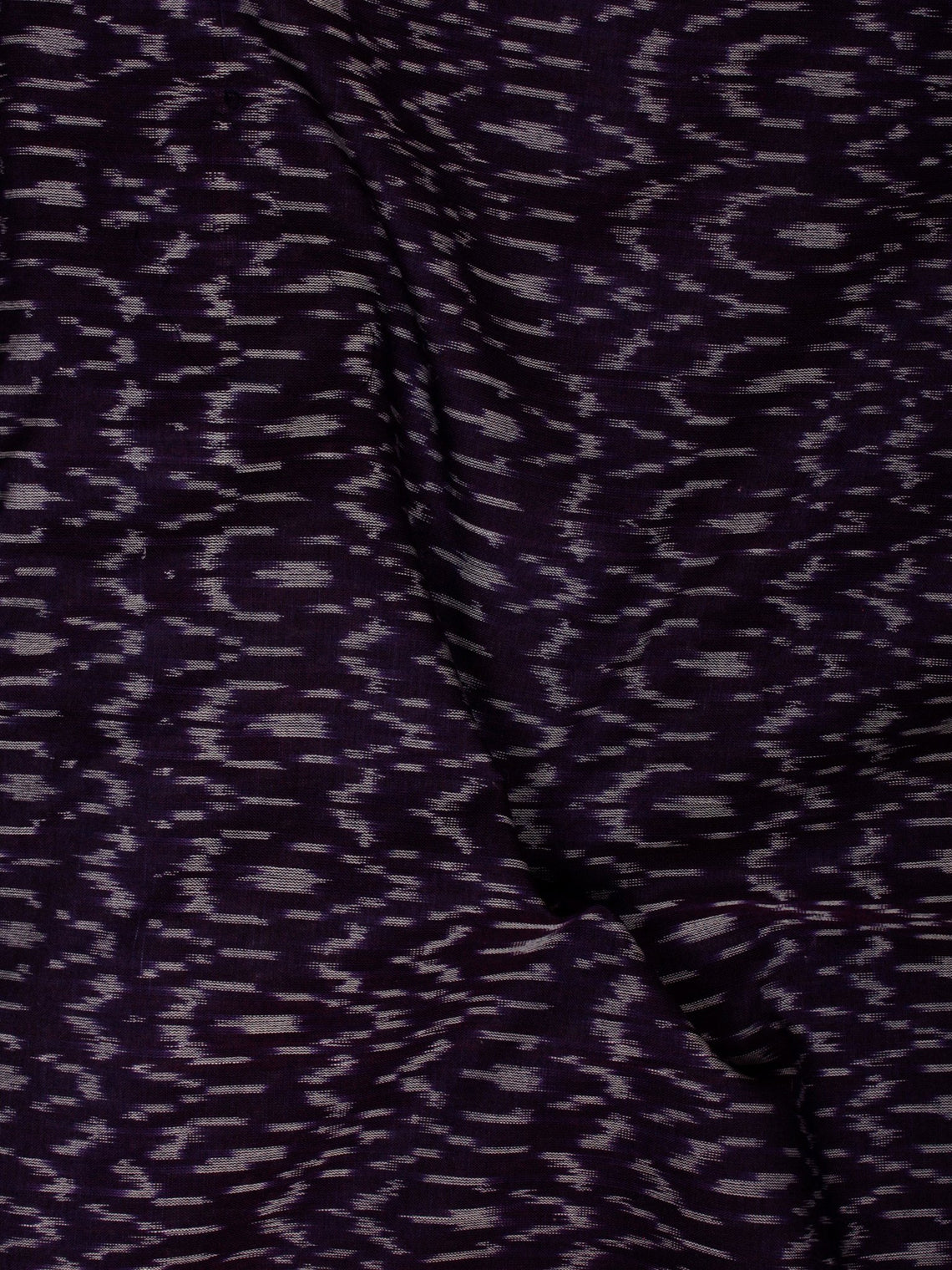 Purple Ivory Pochampally Hand Weaved Ikat Mercerised  Fabric Per Meter - F002F840