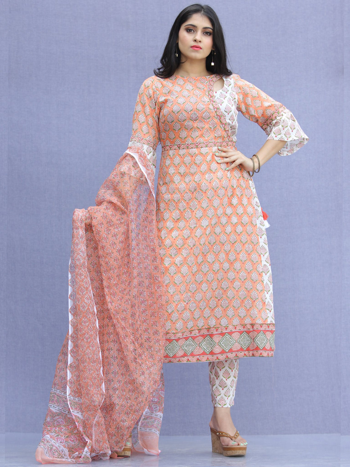 Jashn Amaya - Set of Kurta Pants & Dupatta - KS63A2341D