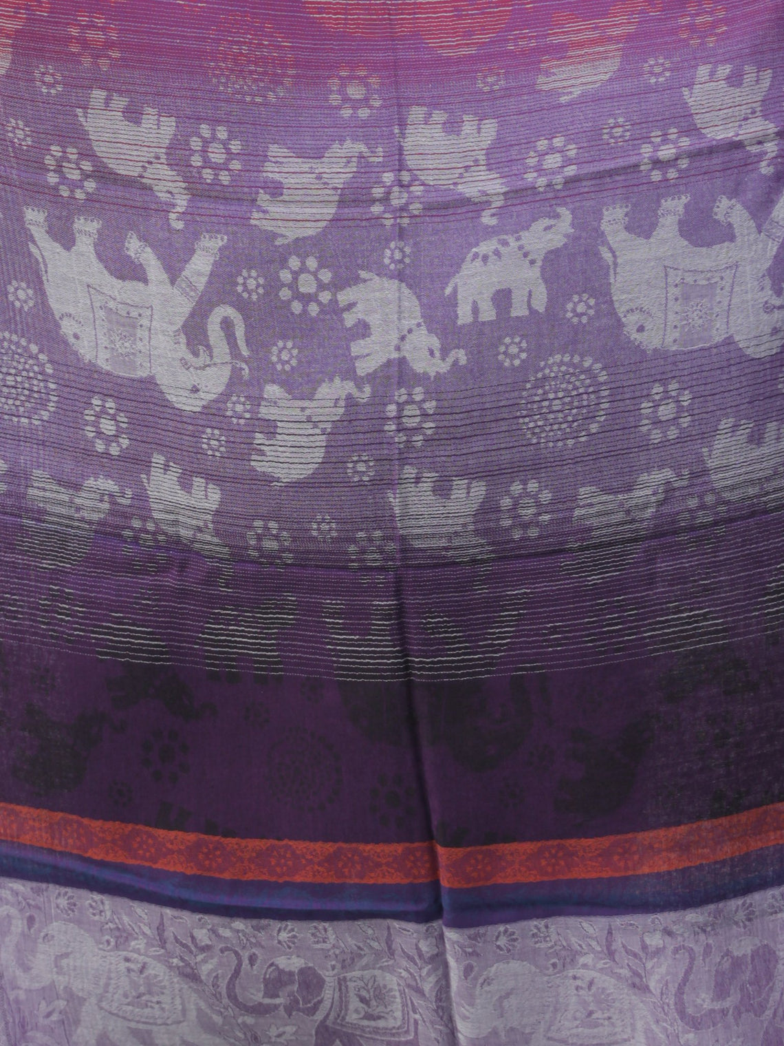 Magenta Purple Self Weaved Modal Silk Wool Kashmiri Stole - S200595