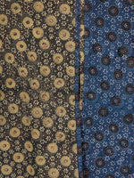 Indigo Brown Olive Green Black Hand Printed Ajrakh Kurta in Natural Colors - K96F1532
