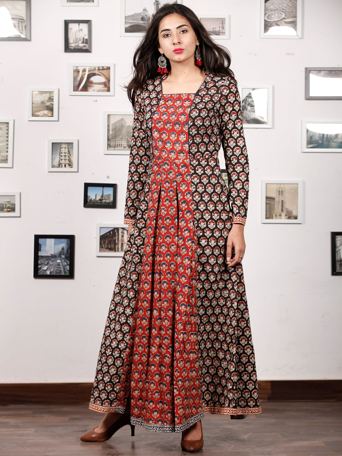 Hand Block Printed Cotton Long Dress