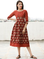 Rustic Fashion - Block Printed Cotton Dress  - D361F1805