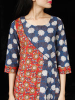 FLOWER MOSIAC - Hand Block Printed Long Cotton Dress - D344F1813