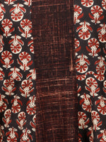 Black Brown Maroon Hand Block Printed Kurta - K97f1507