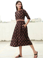 Mughal Beauty  - Block Printed Cotton Dress  - D360F1810