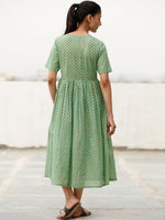 Daily Drape  - Block Printed Cotton Dress  - D368F1928