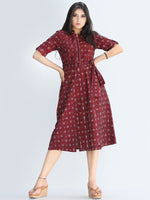 Hayfa - Handwoven Doube Ikat Midi Dress - D421F664