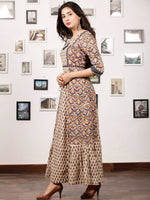 CHOTI BUTI - Hand Block Printed Cotton Long Dress - D351F1383