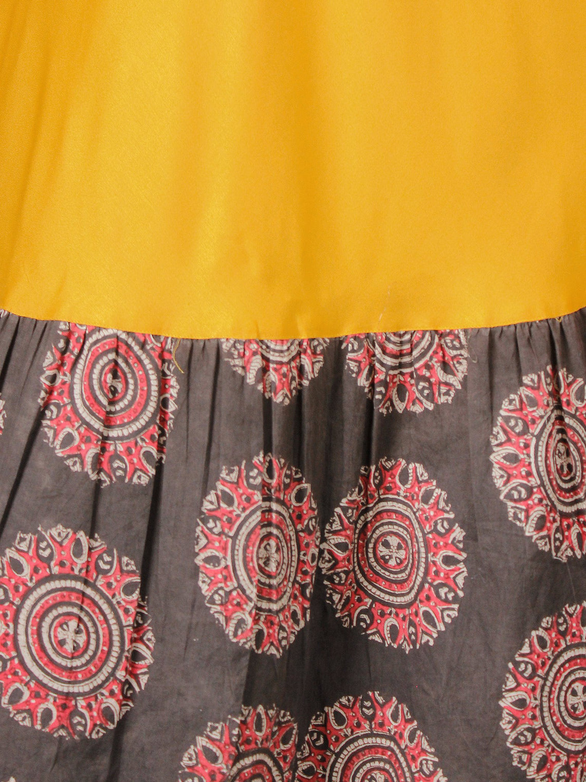Sun Mood - Hand Block Printed Long Cotton Dress - D350F1818