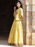 Naaz Nazah - Hand Block Printed Long Top And Skirt Dress - DS73F001