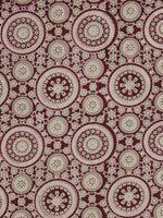 Maroon Ivory Green Ajrakh Block Printed Cotton Fabric Per Meter - F003F622