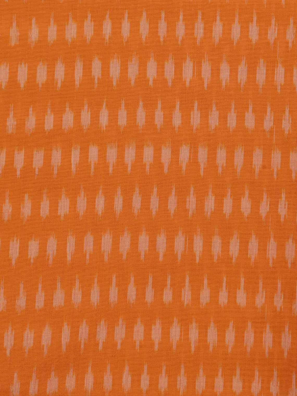 Orange Grey Pochampally Hand Weaved Ikat Mercerised Cotton Fabric Per Meter - F002F1747