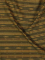 Beige  Green Pochampally Hand Weaved Ikat Fabric Per Meter - F002F858