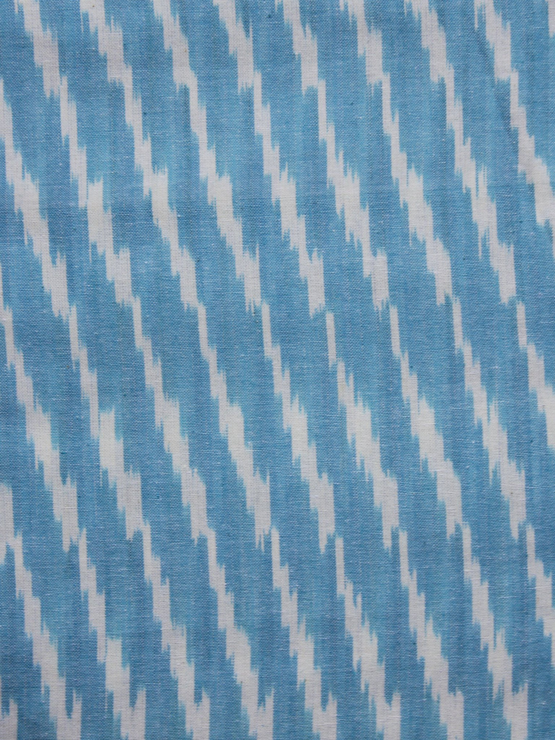 Turquoise Ivory Pochampally Hand Woven Ikat Fabric Per Meter - F002F914