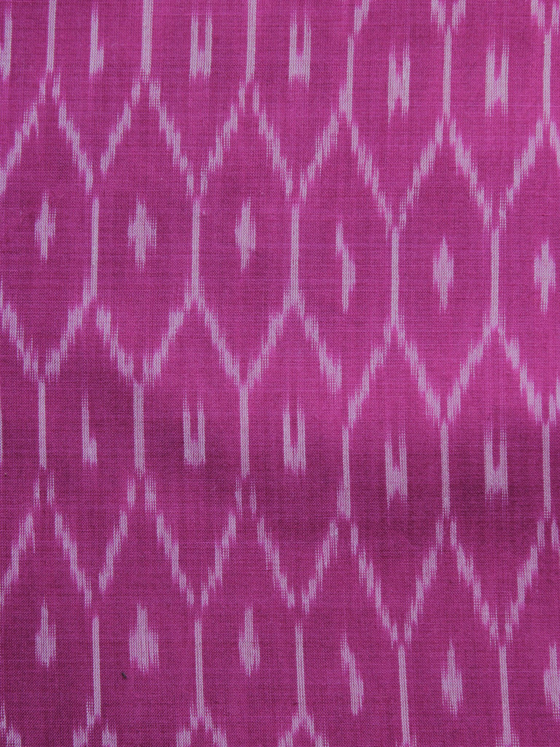 Pink Ivory Pochampally Hand Weaved Ikat Mercerised Cotton Fabric Per Meter - F002F1036