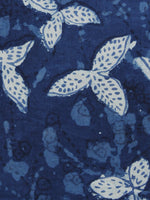 Indigo Ivory Hand Block Printed Cotton Fabric Per Meter - F001F1110