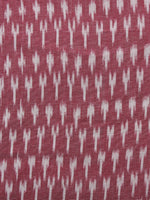 Cherry Ivory Pochampally Hand Woven Ikat Fabric Per Meter - F002F957