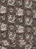 Kashish Ivory Red Black Hand Block Printed Cotton Fabric Per Meter - F001F770