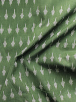 Green Ivory Pochampally Hand Weaved Ikat Mercerised Cotton Fabric Per Meter - F002F1022