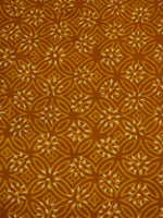 Mustard Ivory Hand Block Printed Cotton Cambric Fabric Per Meter - F0916163