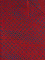 Red Blue Block Printed Cotton Fabric Per Meter - F0916702