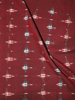 Maroon Multi Color Pochampally Hand Weaved Double Ikat Fabric Per Meter - F0916664