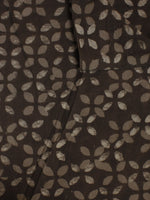 Brown Beige Hand Block Printed Cotton  Cambric Fabric Per Meter - F0916073