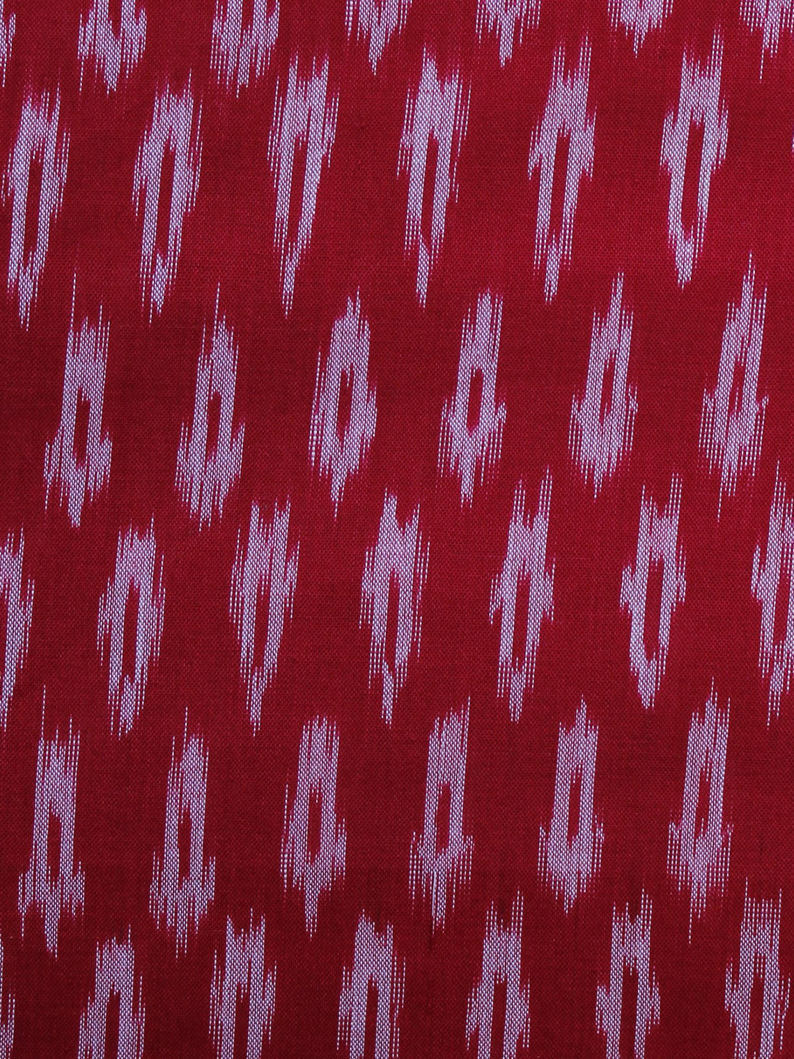 Red Pink Pochampally Hand Weaved Ikat Mercerised Fabric Per Meter - F003F1280