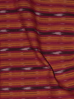 Red Yellow Ivory Pochampally Hand Weaved Ikat Fabric Per Meter - F0916719