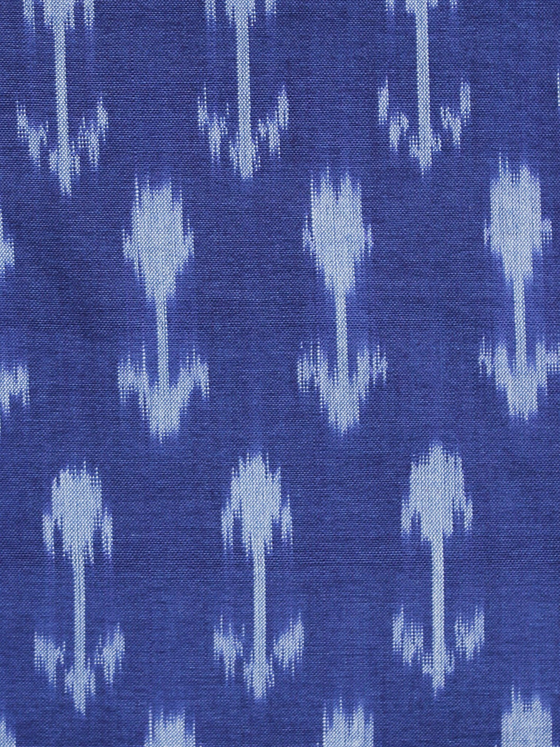 Sapphire Blue Pochampally Hand Weaved Ikat Mercerised Fabric Per Meter - F003F1285