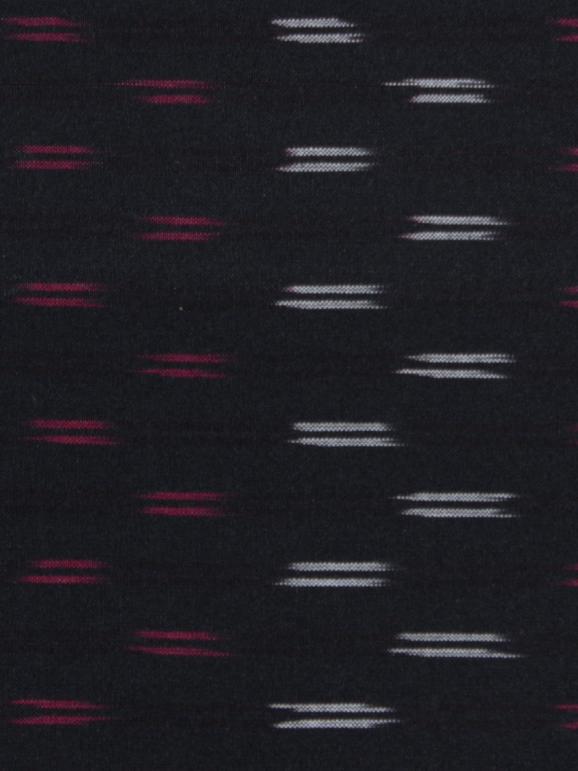 Black Purple Ivory Pochampally Hand Weaved Ikat Fabric Per Meter - F0916720