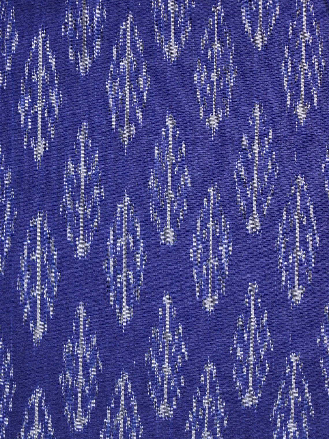 Purple White Pochampally Hand Weaved Ikat Mercerised Fabric Per Meter - F003F1296