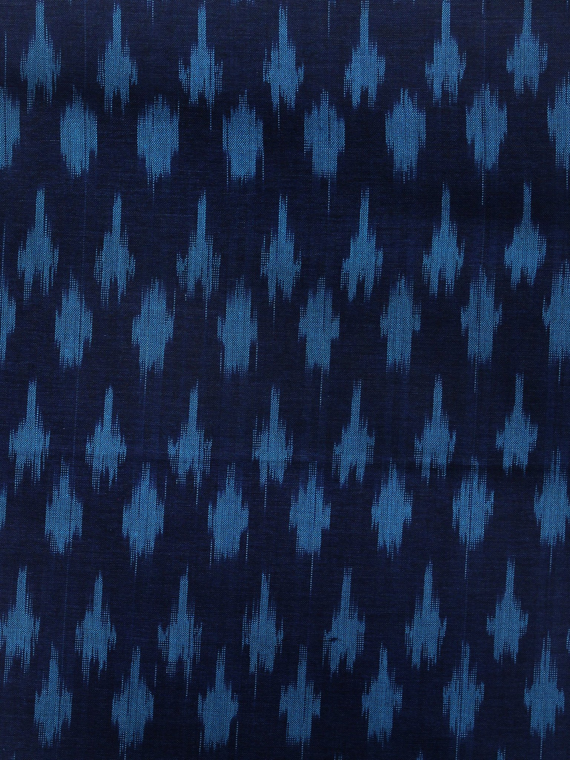 Indigo Turquoise Pochampally Hand Weaved Ikat Mercerised Fabric Per Meter - F003F1298