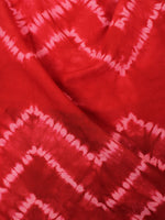 Red White Hand Shibori Dyed Cotton Fabric Per Meter - F0916289