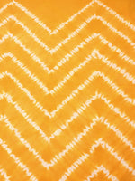 Yellow White Hand Shibori Dyed Cotton Fabric Per Meter - F0916277